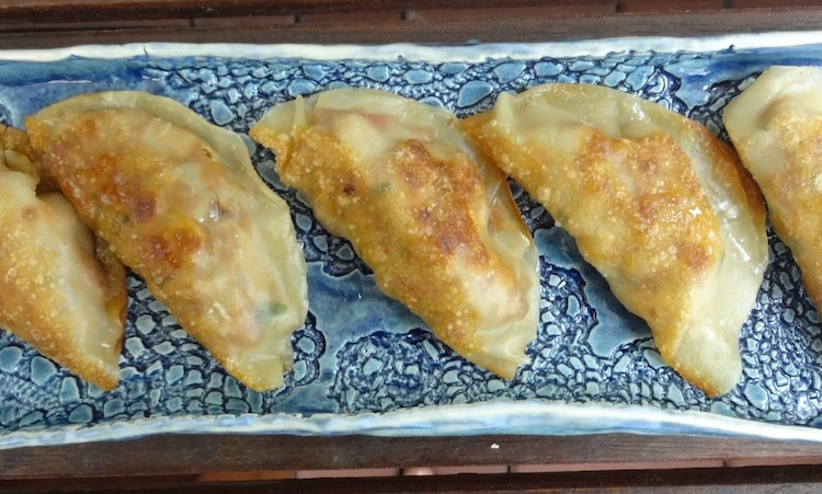 Healthy vegan gyoza