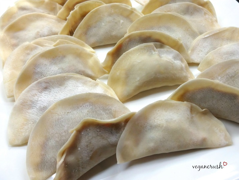 Vegan Pan-Fried Dumplings Easy delicious Recipe