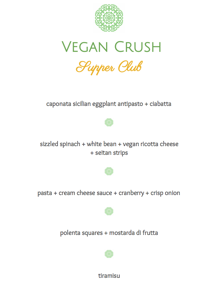 Review Vegan Crush Supper Club @ L´Opera Italian Restaurant