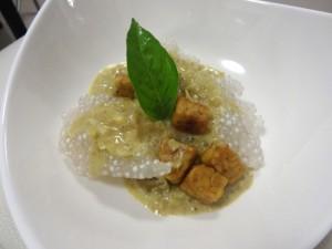 tapioca + green curry + basil + tempeh